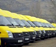yellow minibuses