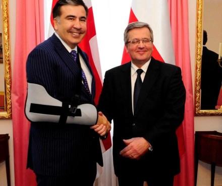 Mikheil Saakashvili - Bronisław Komorowski - 2013-04-11