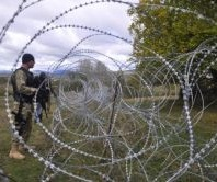 razor wire border south ossetia