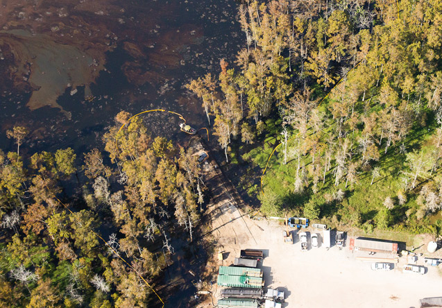 Fracking corporation turns Louisiana bayou country into toxic sinkhole