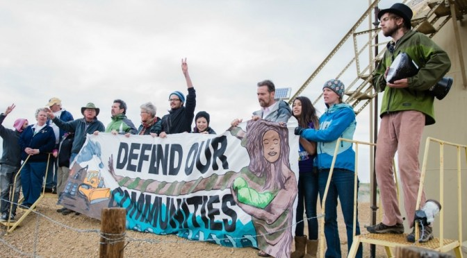 Break Free protesters at a fracking site in Colorado on May 14. (Photo: Christian O'Rourke/Survival Media Agency)