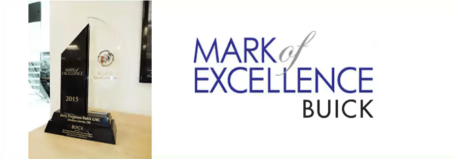 Awards and Accolades Broken Arrow   Ferguson Superstore 2015 Buick Mark of Excellence