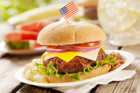 hamburger-american-flag