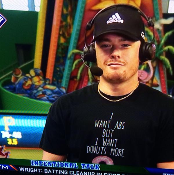 Justin Bour's Shirt Really Says It All