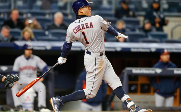 Carlos Correa with another incredible, two home-run game in the Bronx