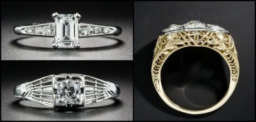 Affordable Art Deco engagement rings under $4 000