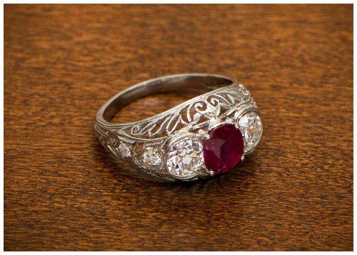 antique ruby and engagement ring a stunning