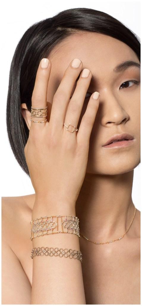 Handmade mixed metal jewelry from emerging new jewelry designer, Sophie Ratner.