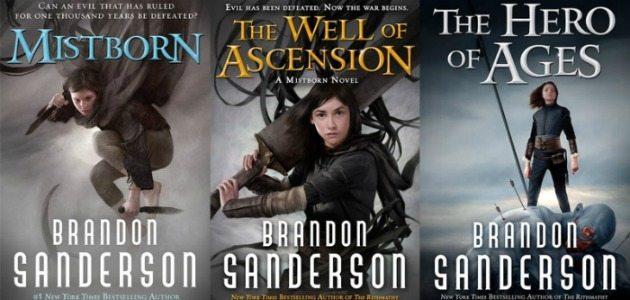 The Mistborn Trilogy by Brandon Sanderson.