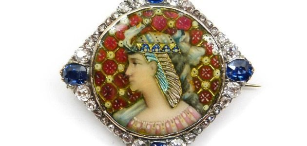 Two exceptional examples of antique portrait jewelry.