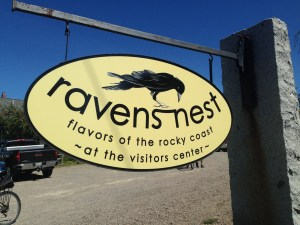 Before heading out on the Loop Road, we rode into the village of Winter Harbor to fuel up on breakfast goodies  and coffee at the Raven's Nest.