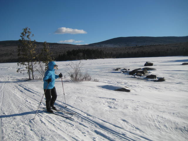 We skied out on the trail across Long Pond, then into the woods for several miles until arriving back at the Winter Parking Lot.