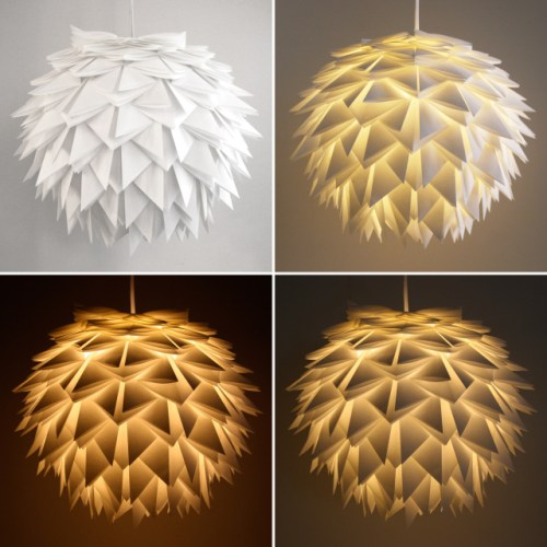 ideas y moldes para hacer l mparas de papel diario artesanal. Black Bedroom Furniture Sets. Home Design Ideas