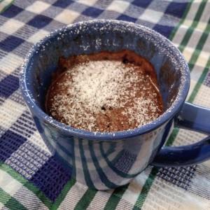 Mugcake de cacao en menos de 5 minutos