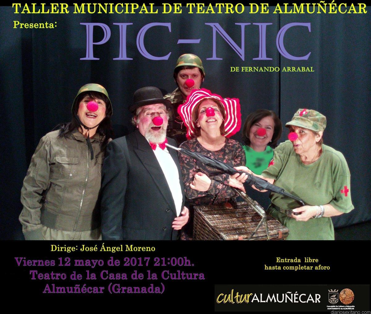 "El Taller Municipal de Teatro de Almuñécar representa este viernes la obra de Femando Arrabal ""Pic Nic"" en la Casa de la Cultura sexitana."