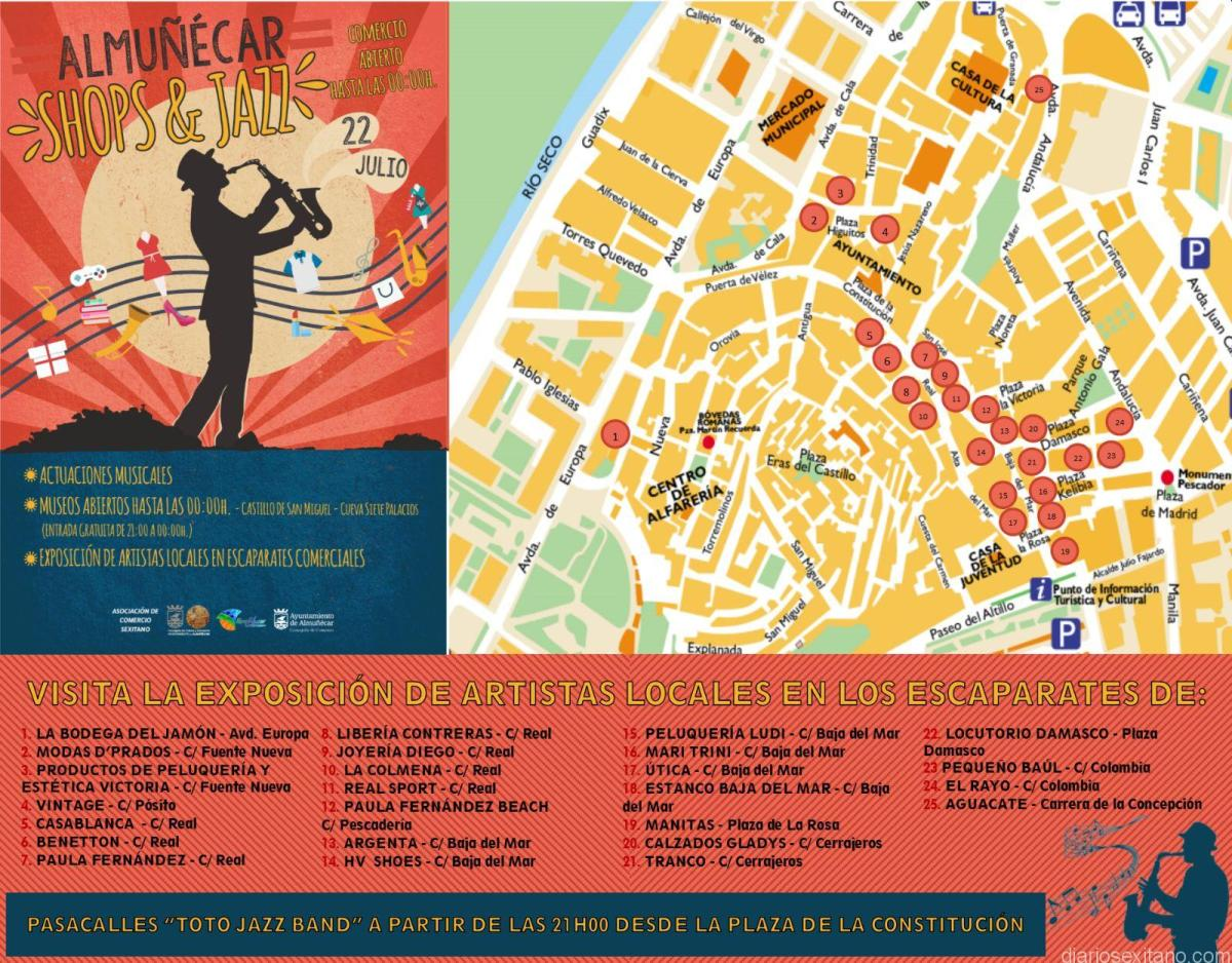 Elcomerciode Almuñécar se animará este sábado con una noche de Shops &Jazz