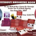 Book signing event in Baltimore Maryland- Bend without breaking