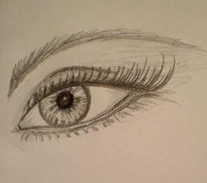 como dibujar a lapiz ojos (1)