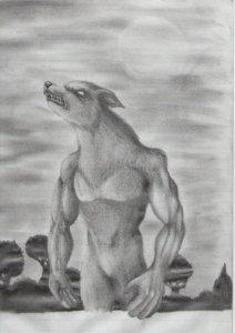Dibujos a lapiz de hombre lobos (2)