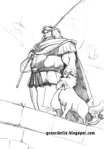 Dibujos a lapiz de hombre lobos (4)