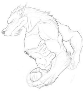 Dibujos a lapiz de hombre lobos (7)