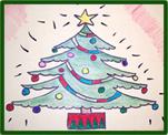 dibujos a lápiz de arbolitos de navidad (2)