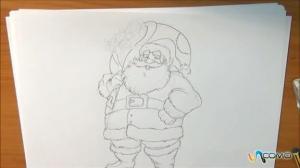 dibujos a lapiz de papa noel (3)