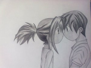 Dibujos a lápiz Animé (9)