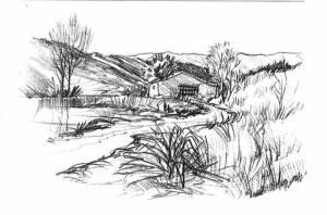 como dibujar a lapiz un paisaje (3)
