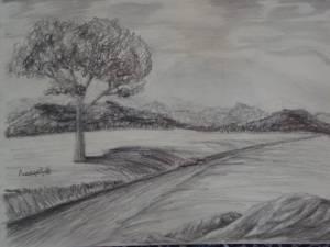 como dibujar a lapiz un paisaje (5)