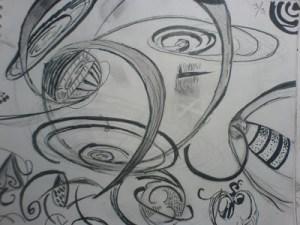 Dibujos a lápiz abstractos (4)