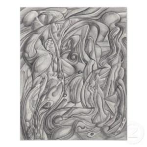 Dibujos a lápiz abstractos (8)