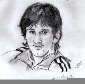Dibujos a lápiz de jugadores de futbol (2)