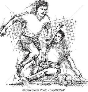 Dibujos a lápiz de jugadores de futbol (8)
