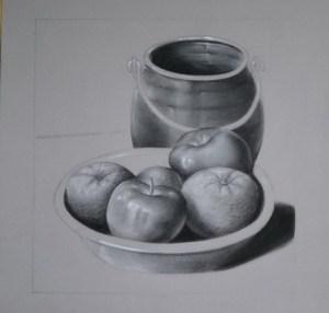 Dibujos a lápiz de bodegones (12)