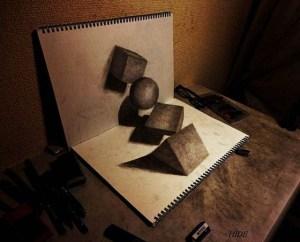 Dibujos a lápiz en 3d (3)