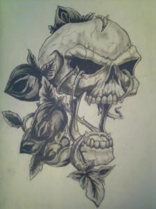 Dibujos a lápiz con calaveras (5)