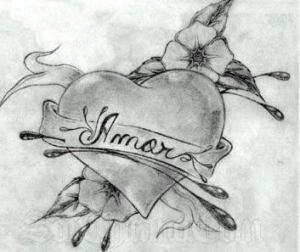 Dibujos a lápiz con corazones (13)