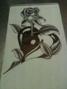 Dibujos a lápiz con corazones (9)