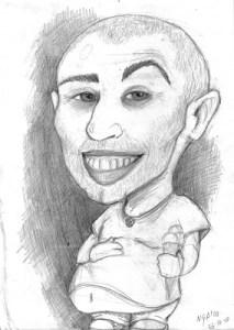 Dibujos a lápiz de caricaturas (5)
