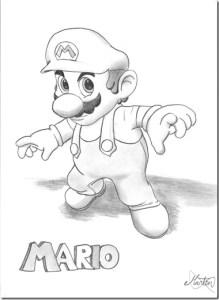 Dibujos a lápiz de Mario Bros (2)