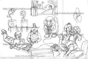 Dibujos a lápiz de Mario Bros (7)