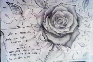 Dibujos a lápiz de flores (5)