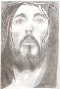 Dibujos a lápiz de jesús (3)