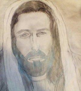 Dibujos a lápiz de jesús (4)