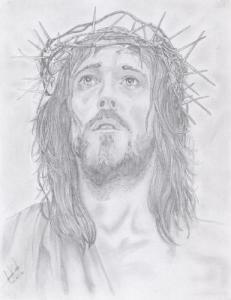 Dibujos a lápiz de jesús (9)