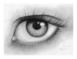 Dibujos a lápiz de ojos (7)