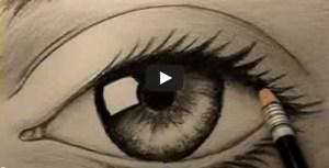Dibujos a lápiz de ojos (9)