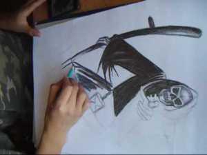 Dibujos a lápiz de calaveras y huesos (1)
