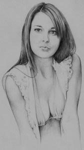 Dibujos a lápiz de hermosas mujeres (13)